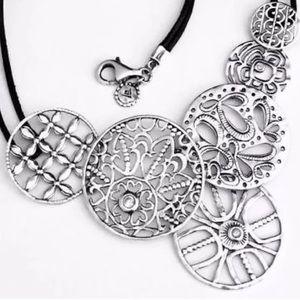Silpada .925 Sterling Silver Filigree Art Necklace